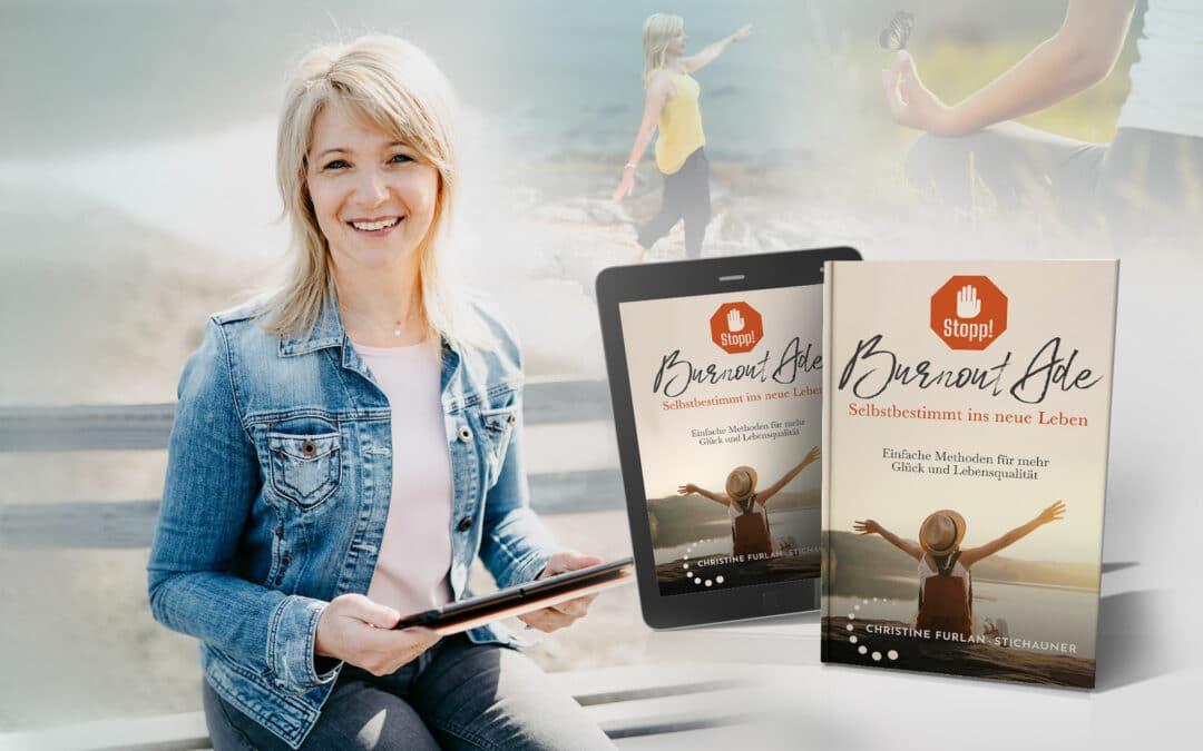 Christine Furlan-Stichauner mit ihrem Buch zum Thema Burnout.